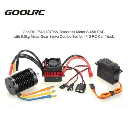 1 of 1 - GoolRC F540 4370KV Motor ESC with Servo Upgrade Brushless for 1/10 RC Car D5B3