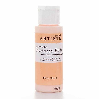 2OZ ACRYLIC PAINT TEA PINK DOA 763220