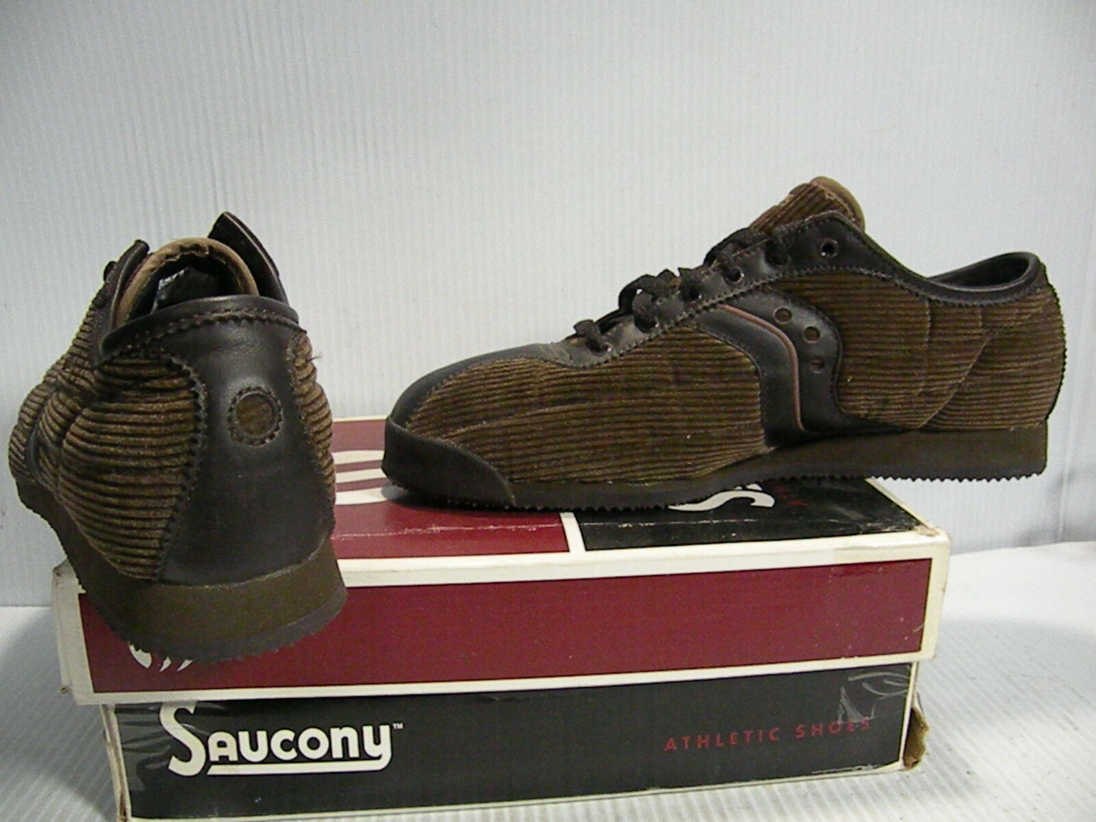 SAUCONY FREEDOM CORDUROY CORDUROY CORDUROY LOW SNEAKERS Uomo SHOES BROWN 2535-1 SIZE 10 NEW 1553ae