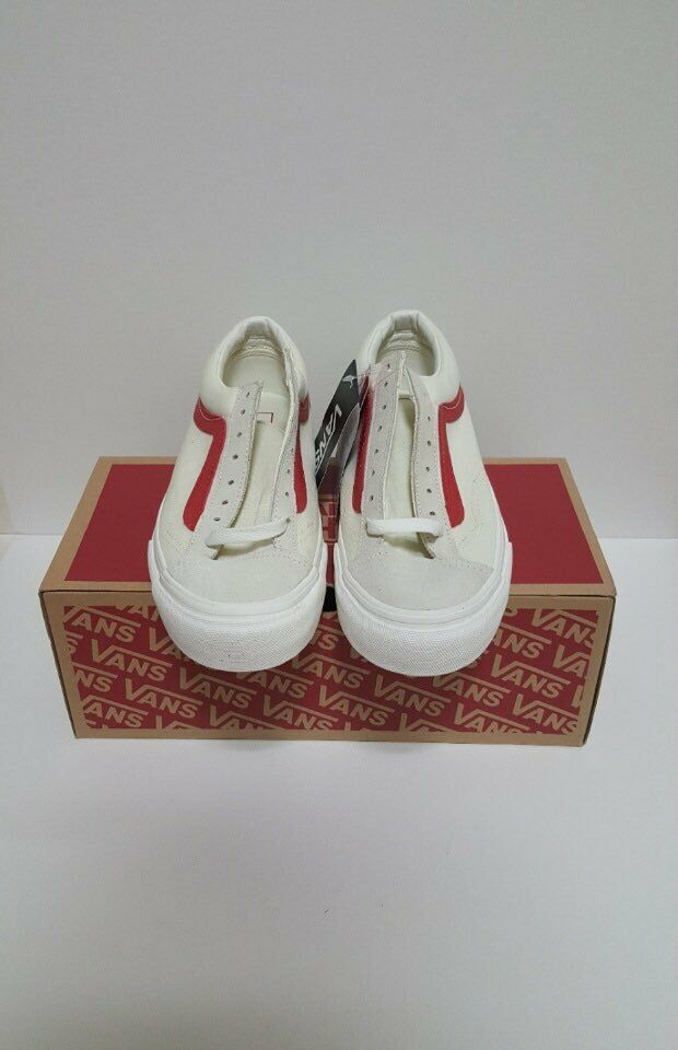 Vans Style 36 Marshmallow Racing Red Sz 8.5 VN0A3DZ3OXS  100% AUTHENTIC