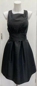 Roman-Originals-Vintage-50-039-s-Prom-Style-Black-039-Fit-N-Flare-039-Taffeta-Dress-12-14
