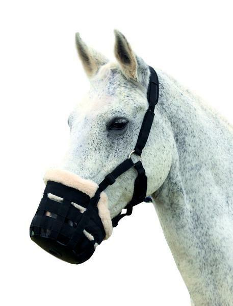 Shires Deluxe Comfort Fleece-Lined Grazing Muzzle with  Adjustable Halter  all products get up to 34% off