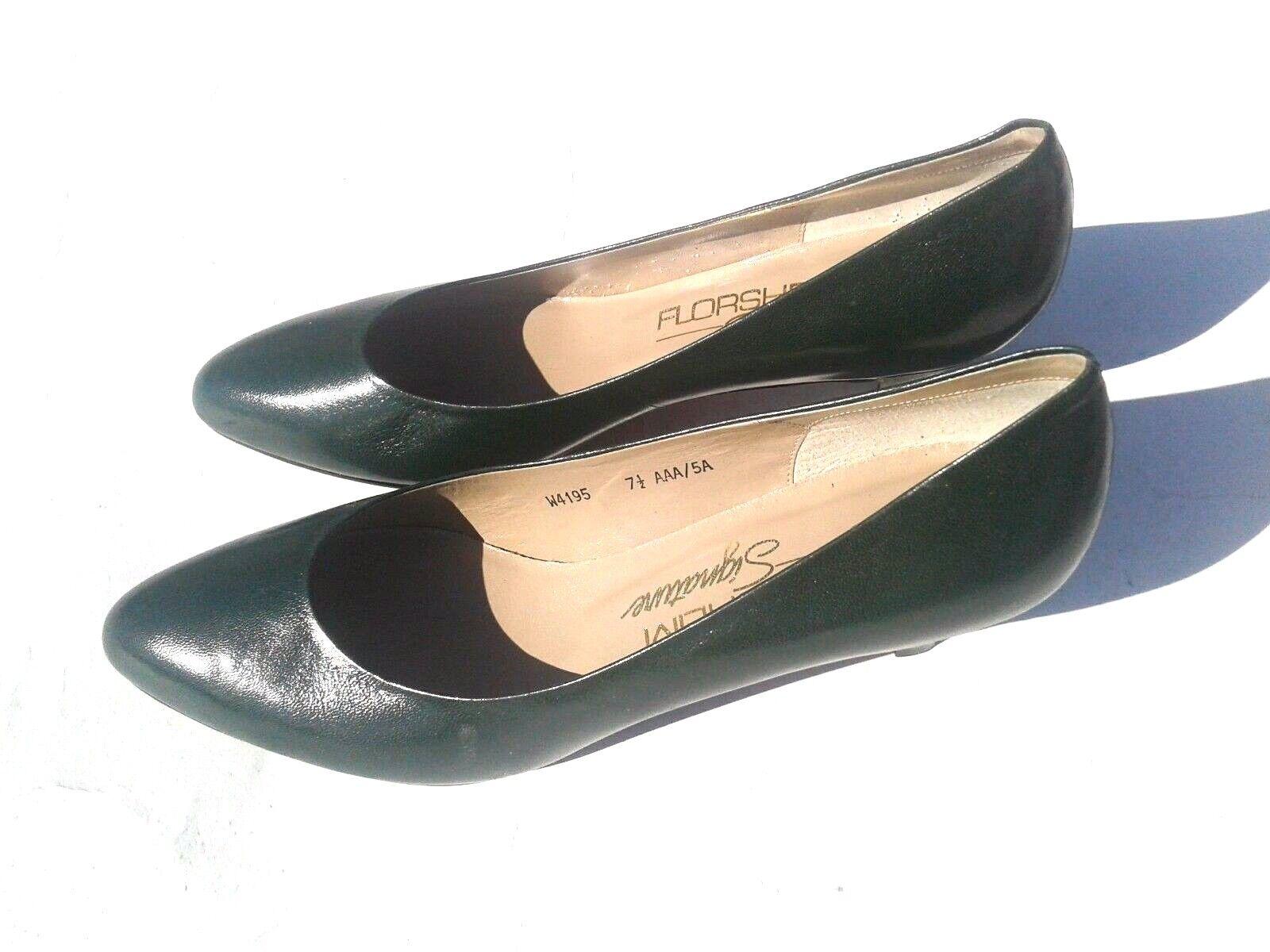 FLORSHEIM Signature Grün Leather Upper Heel Pumps Größe 7.5AAA - NWOB