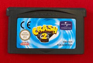 Crash-Nasenbeutler-2-N-Machart-Cartridge-Nur-Nintendo-Game-Boy-Advance-getestet