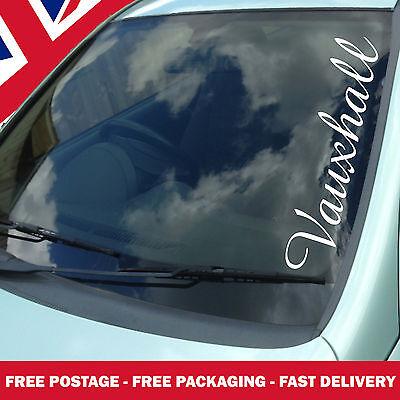 Because ASTRA Car Vinyl Die Cut Window Bumper Windscreen Stickers Decal Vauxhall