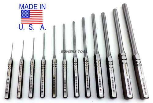Wilde Tool 12pc Professional Roll Pin Spring Punch Set MADE IN USA w Roll Case