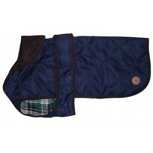 Country-Pet-Outdoor-Stylish-Quilted-Dog-Coat-Jacket-NAVY-BLUE-30cm-12-inches