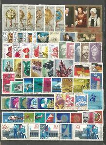 DDR 1972 gestempelt kompletter Jahrgang mit allen Einzelmarken gute Stempel