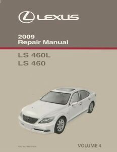 2009 lexus ls 460 ls 460l shop service repair manual volume 4 only rh ebay ie 2013 lexus ls 460 owners manual lexus ls 460 repair manual pdf