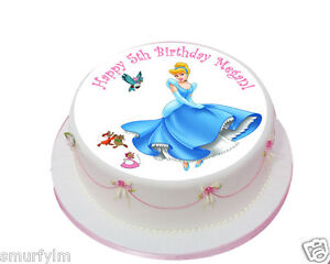 Cinderella Princess x1 Edible Birthday Cake Topper Icing 75