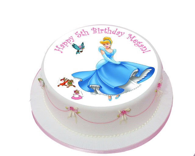 Awe Inspiring Cinderella Princess X1 Edible Birthday Cake Topper Icing 7 5 For Funny Birthday Cards Online Overcheapnameinfo