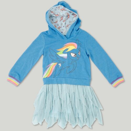 Details about  /My Little Pony Toddler Girls/' Turquoise Long Sleeve Hooded Dress Size 3T