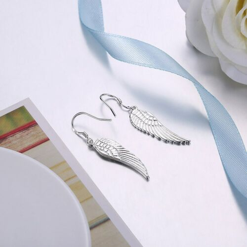 925 Sterling Silver Fashion Jewelry Accessories Lovely Wing Femmes Boucles D/'oreilles EY953
