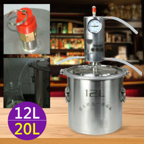 12L//20L Schnapsbrennen Destillieranlage Kessel  Wein Edelstahl Alkohol haus Dest