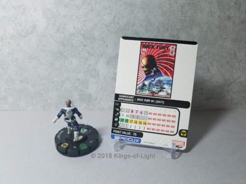 Nick Fury 017 Marvel Avengers Infinity HeroClix Miniature Uncommon