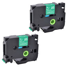 2 Compatible For Brother P Touch Tz Tze 745 Whitegreen Label Tape 07262