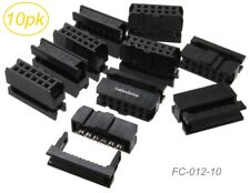 10 Pack 12 Pin 2x6 Female Idc 254mm Pitch Connectors For Flat Ribbon Cable