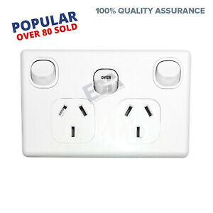 Double-Power-Point-GPO-with-OVEN-35-Amp-Extra-Switch-Wall-Outlet-modern-style
