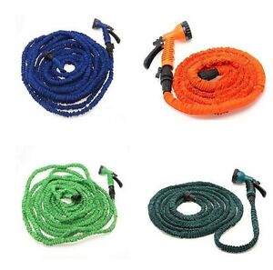 Latex-25-50-75-100-FT-Expanding-Flexible-Garden-Water-Hose-with-Spray-Nozzle