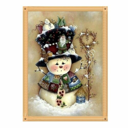 Full Drill Snowman DIY 5D Diamond Painting Cross Stitch Kits Home Art Christmas