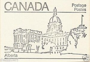 Canada 1982 - 50¢ Maple Leaf Booklets #BK82 (labels bottom row) - Alberta