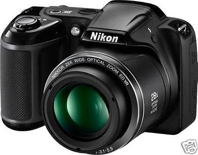Nikon Coolpix L340 Point & Shoot Camera - (Black)