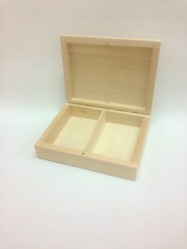 Natural Wooden Box with removable divider/ Wedding Ring Box/ Palying cards