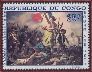 1960 Congo Pa N°71** Tableau Delacroix, Révolution Française, La Barricade Mnh Technologies SophistiquéEs