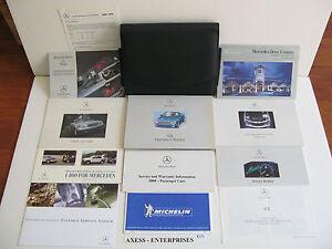 2000 Mercedes R170 SLK SLK230 Kompressor Owner Manuals Operator Books Pack E172