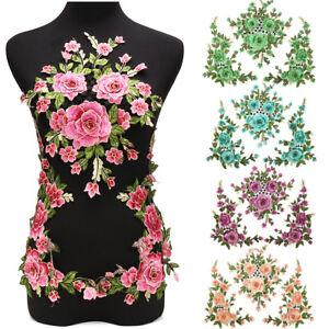 1-Set-3D-Flower-Embroidery-Lace-Applique-Patches-Cord-Scrapbooking-Motif-Dress