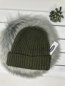 ecc6a2bf3e3 Image is loading Old-navy-womens-Rib-knit-beanie-Olive