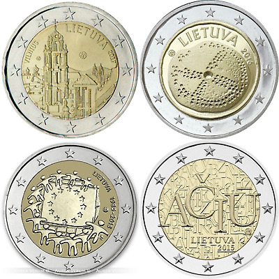 All UNC Euro Coins Lithuania Lietuva Full set 8 coins