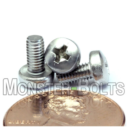 M3 x 6mm Stainless Steel Phillips Pan Head Machine Screws DIN 7985 A Qty 10