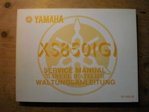 Actief Yamaha Xs 850 1979 Reparaturanleitung Werkstatthandbuch Seniliteit Uitstellen