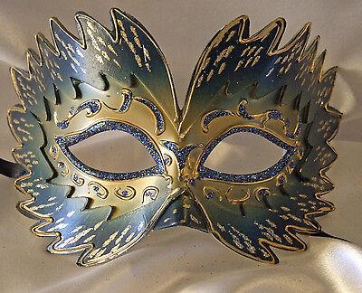 Blue BLEVET Vintage V/énitien Masquerade pour Femme Halloween Mardi Gras Ball Party Carnaval Masquerade MZ109