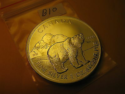 2011 Canada Wildlife Polar Bear 1 OZ Silver $5 Coin Mint Grade ID#B10.