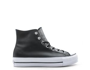 sneakers converse donna pelle