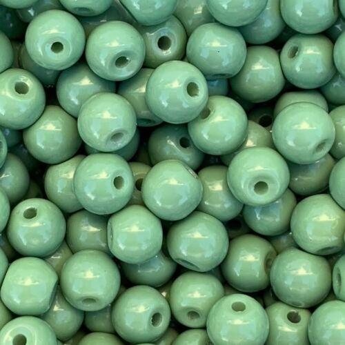 opaque 49273 50 pièces Perles de Verre Ø 6 mm Cedar-Green