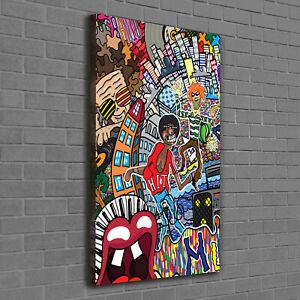 Details Zu Leinwand Bild Kunstdruck Hochformat 60x120 Bilder Musikcollage