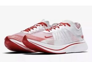 3fa012c9aed16 NEW Sz 7.5 Nike Zoom Fly SP Running Shoe Tokyo White University Red ...