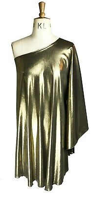Baylis /& Knight Gold JERSEY OFF SHOULDER STUDIO 54 MAXI   70/'s  Dress Disco