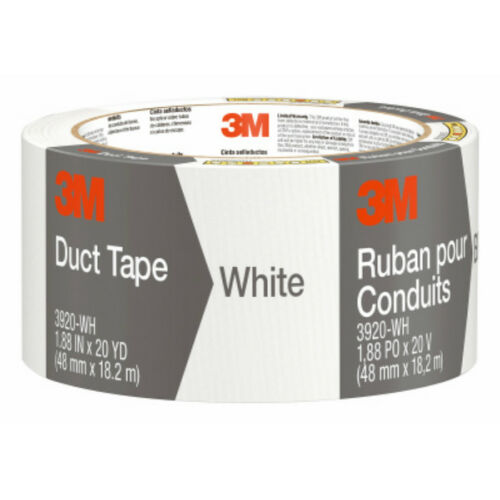 "1.88/"" x 20 Yd 3M 3920-WH Heavy-Duty Duct Tape White"