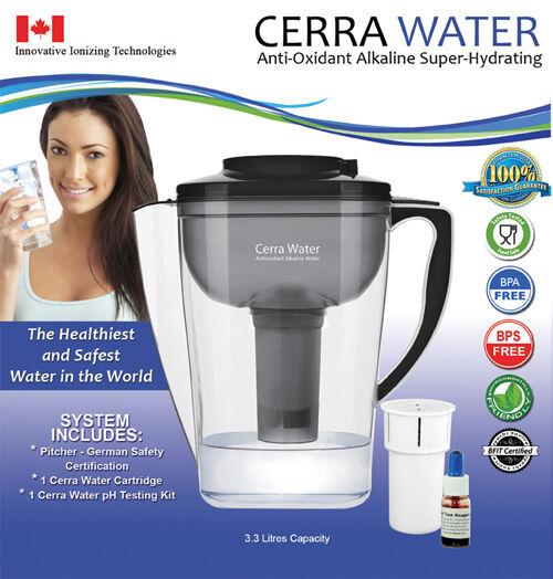 Cerra Alkaline Water Pitcher - Alkaline Anti-oxidant water jug