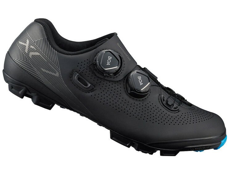 Shimano XC7 de Carbono Bicicleta De Montaña Bicicleta De Montaña Zapatos Negro Ancho Ancho XC701 42E (US 8.3)