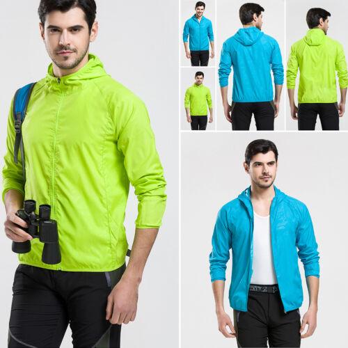 Hommes Femmes Veste Imperméable Coupe-vent Outdoor Cyclisme Sports Manteau de Pluie S-3XL 34
