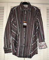 Zagiri Men's Shirt Kms-2081 Thunderstruck Black $155+ Jacquard Stripe L 2xl