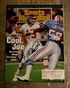 1994 Kansas City Chiefs JOE MONTANA Signed Sports Illustrated