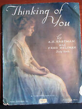 Thinking of You -1920 sheet music - Med vocal, piano, violin, cello