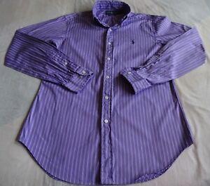 b1fe2feca Sz.15,34/35 Ralph Lauren Classic Fit L/S Shirt Purple w/Dark Purple ...
