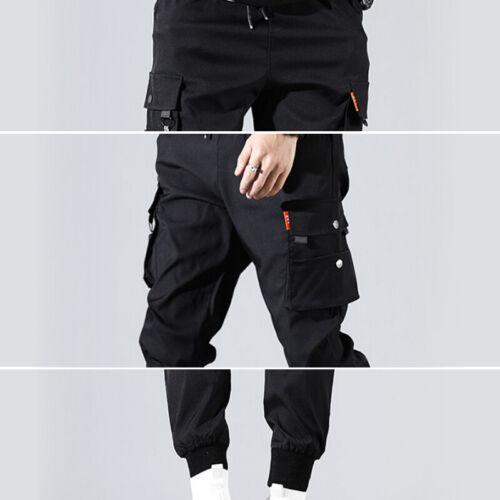 Men/'s Multi-pocket Cargo Combat Overalls Hip-Hop Harem Pants Jogger Trousers HOT